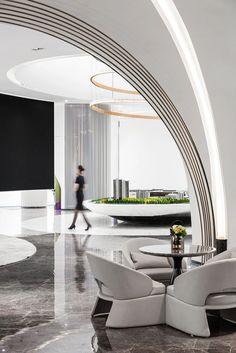 Dubai Houses, Modern Masters, Hotel Lobby, Swinging Chair, Ceiling Design, Office Interiors, Decoration, Interior Design, Room