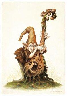 jean baptiste monge Plus Forest Creatures, Magical Creatures, Duende Real, Illustrations, Illustration Art, Kobold, Elves And Fairies, Fairy Art, Fantasy Artwork
