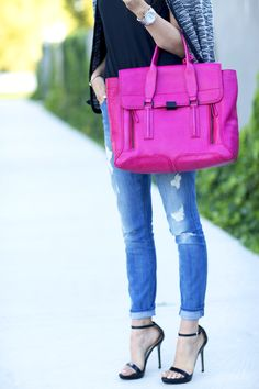 Color pop with pink.