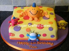 Mr Men Birthday Cake By The Magical Cupcake Company In The UK - Mr tickle birthday cake