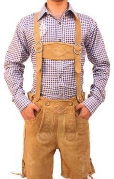 FREE bavarian shirt! Shop at: Lederhosenstore.com  Authentic lederhosen for men. Long kniebund lederhosen and short leather trousers. Perfect german costumes for ocktoberfest!   #Tracht #Dirndl #German #Outfits #cheap #Oktoberfest #lederhosen #bundhosen #trousers #shorts