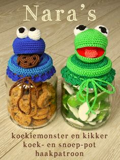 Koekiemonster/Kikker patroon - Nara's Creations