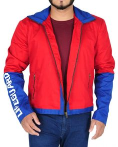 Red and blue funky casual cotton jacket Red Costume, Stylish Jackets, Baywatch, Dwayne Johnson, Cotton Jacket, Shirt Style, Red And Blue, How To Look Better, Cotton Fabric