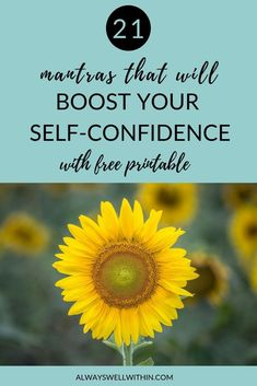 21 Mantras That Will Boost Your Self-Confidence — Always Well Within Low Self Confidence, Building Self Confidence, Confidence Boost, Positive Phrases, Positive Affirmations, Low Self Worth, Self Help Skills, Codependency Recovery, Self Development