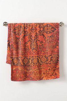 Bathroom towel orange