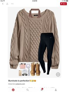 love the Chunky sweater look. Source by jennelyinteriors Outfit ideas Outfits Otoño, Lazy Outfits, Cute Outfits For School, Cute Comfy Outfits, Casual Winter Outfits, College Outfits, Teen Fashion Outfits, Everyday Outfits, Outfits For Teens