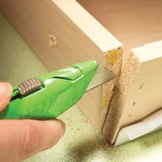 fixing a kitchen cabinet drawer remove fasteners and old glue donu0027t put - How To Fix A Drawer