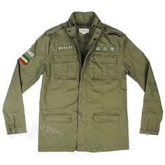 Marley Olive Green Military Jacket - Men's