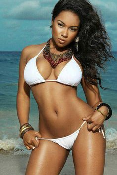 Although the bikini, face and body are nice, they are not the focus here. I just want to finally have smooth clear skin everywhere. Sexy Bikini, The Bikini, Bikini Girls, Bikini Babes, Sexy Ebony Girls, Ebony Women, Black Is Beautiful, Gorgeous Body, Beautiful Curves