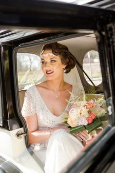 Great Gatsby Glamour. A 1920's Themed Wedding. Vintage style bride. Beaded dress. Image by Stanbury Photography. Read more:http://bridesupnorth.com/2015/06/24/great-gatsby-glamour-a-1920s-themed-wedding-in-the-north-west-rosalind-michael/#/