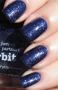 4ae0db2bfb0a1 The PolishAholic  piCture pOlish Orbit Sparkle Nails