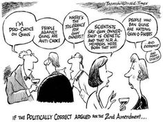 If the Politically Correct argued for the Second Amendment.