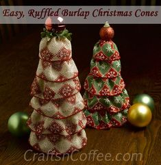 I have an easy, and pretty, Christmas topiary idea today. If you're still in a food coma, these easy Christmas Cones are a fun way to wake up and get in the Christmas crafting spirit. Do you rememb...