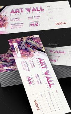Art Expo Ticket and Event Pass Template                                                                                                                                                                                 More