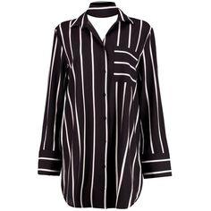 Boohoo Albany Choker Shift Dress (€23) ❤ liked on Polyvore featuring dresses, tops, shirts, bodycon maxi dress, mini skater dress, shift dress, maxi party dresses and bodycon midi dress