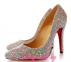 Here you will be the princess, with the most luxurious and shinning crystal shoes, which were covered with crystals, rhinestones, pearl and glass