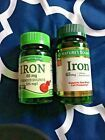 Set of 2 Natures Bounty/Natures Truth Iron 220 Tablets Natural Vitamins, Natural Health, Biotin Hair Growth, Calcium Magnesium, Vitamin B Complex, Green Tea Extract, Iron, Health Products, Link