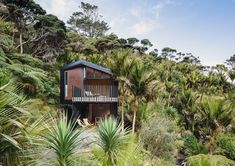Native bushland of the Waitakere Ranges, Karekare by Stevens Lawson Architects rejoices in a sense of isolation, tucked away in the wilderness. Grand Designs, Close To Home, Ceiling Windows, Open Plan Living, Architect Design, Minimalist Design, Auckland, French Doors, New Zealand