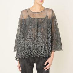 Блузка orinda серый Valerie Khalfon | купить в интернет-магазине La Redoute