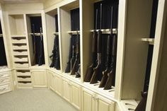 Gun closet for JJ...Great way to lock up firearms to keep them away from kids--never keep weapons unsecured in the house!