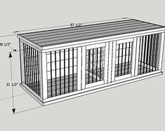 Wooden Double Dog Kennel Diy Plans Medium Size Etsy