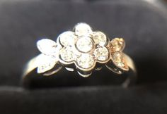 Tiffany & Co Blossom Collection Platinum 950 Round Cut Diamond Flower Ring