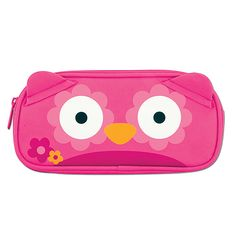Help them keep track of their mini belongings with Stephen Joseph's new zip-top pouches. Our fave: this pink owl version.
