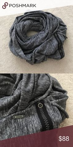 Lululemon. Vinyasa Scarf. Static Coal. Excellent condition! Second release  🚫 no trades ✖️ no holds 🔵 offers considered through the offer button ♻️ if it's listed, it's available lululemon athletica Accessories Scarves & Wraps