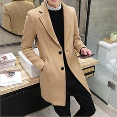 2017 New Long Trench Coat Men Windbreak Winter Fashion Mens Overcoat 40% Wool Quality Thick Warm Trench Coat Male Jackets-in Wool & Blends from Men's Clothing & Accessories on Aliexpress.com | Alibaba Group