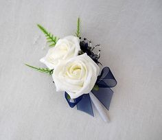 navy blue and cream wedding bouqets - Google Search