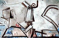 Le dernier tableau de Picasso: Femme nue couchée et tête (1973)