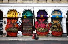 Characters By Bastardilla - London (United Kingdom) - Seen this, it's really cool, on Commercial Road or something