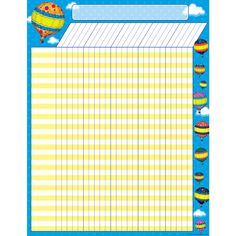 - Hot Air Balloons Incentive Chart, Convenient, useful learning tools that decorate as they educate! Each chart measures by Related lessons . Preschool Learning Activities, Learning Tools, Attendance Chart, Hot Air Balloon, Arches, Balloons, Outdoor Blanket, Classroom, Homeschooling