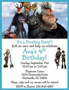 How to Train Your Dragon Invitations #5