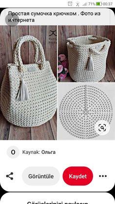 Crochet Market Bag, Crochet Tote, Crochet Handbags, Crochet Purses, Knit Crochet, Crochet Bag Tutorials, Crochet Lace Edging, Crochet Poncho Patterns, Crochet Projects
