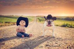 country kid with his buddy