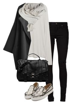 """""""Untitled #321"""" by sofia-608 ❤ liked on Polyvore featuring Yves Saint Laurent, Zara and Proenza Schouler"""