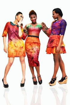 African Prints in Fashion.  How awesome is the middle dress.  Im not a fan of peter pan collars or minidresses, since I am not twiggy.