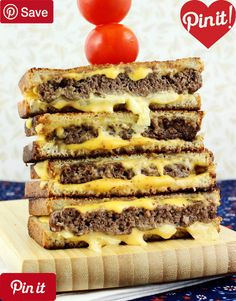 Award Winning Grilled Cheese Burgers - Ingredients Meat 1 lb Ground beef lean 85 percent Produce tsp Garlic powder 1 Yellow onion medium half half Refrigerated 1 Egg large Baking & Spices 1 tsp Black pepper freshly ground 1 tsp Kosher salt Bre