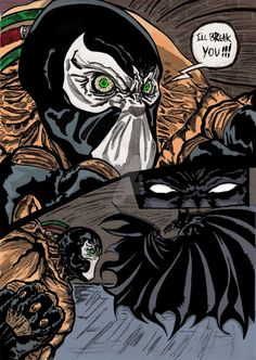 Batman V Bane by nic011.deviantart.com on @DeviantArt
