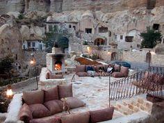 Cave Hotel in Turkey