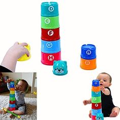 Dazzling Toys Toddler Alphebets and Numbers Building Joy Cups D257 * Want additional info? Click on the image.