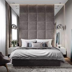 Ideas for bedroom modern headboard bedhead Modern Luxury Bedroom, Master Bedroom Interior, Luxury Bedroom Design, Bedroom Bed Design, Stylish Bedroom, Large Bedroom, Luxurious Bedrooms, Home Interior, Home Decor Bedroom