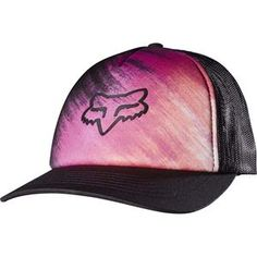 5adfd2d79937a Fox Racing - Women s Hyped Trucker Hat - Black Motorcycle Outfit