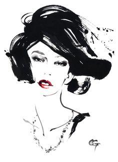 凛 RIN,SYO 3 #OHGUSHI #Fashion_illustration #Cosmetic #portrait_painting…