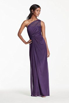 Long Mesh Bridesmaid Dress with One Shoulder Neckline Style F15928, Lapis, 0 David's Bridal http://www.amazon.com/dp/B00SD9FTCO/ref=cm_sw_r_pi_dp_IfB4wb14K8B7B