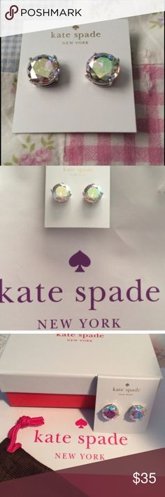 ♠️ Kate Spade AB Gumdrop Earrings ♠️ Kate Spade AB Gumdrop Earrings with pouch, gift box, gift bag, and tissue paper. kate spade Jewelry Earrings
