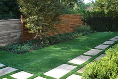 With astroturf you can create interesting design pieces with slabs and the turf. You won't have to worry about the grass overwhelming the slabs or roots cracking and breaking the concrete.