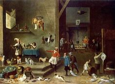 Kitchen by David Teniers the Younger