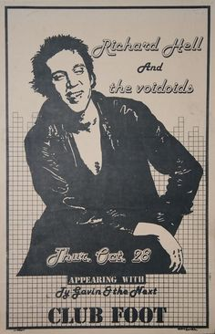 Richard Hell and The Voidoids with Gavin and the Next | 35 Old Punk Flyers That Prove Punk Used To Be So Cool